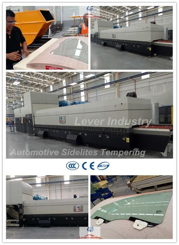 Automotive Sidelites Glass Toughening Machine / Glass Tempering Furnace for Car Side window glass