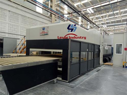 Double Curvature Bending Glass Tempering furnace for Automotive Backlite / rear glass