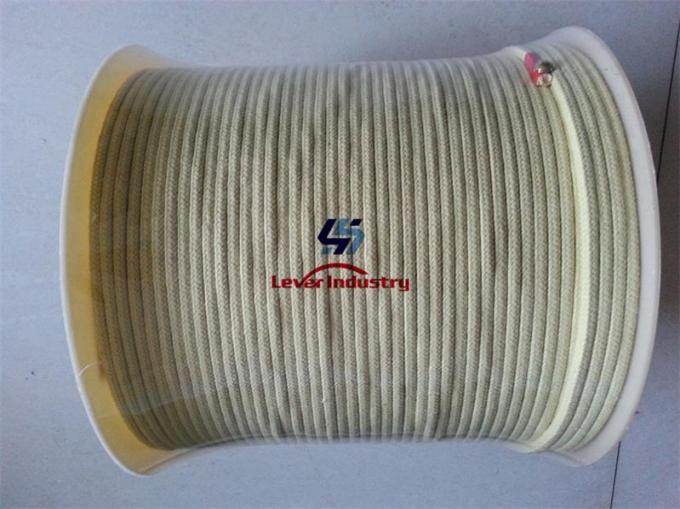 6x6mm Aramid Fiber Rope for Tamglass Tempering Furnace kevlar fire rope