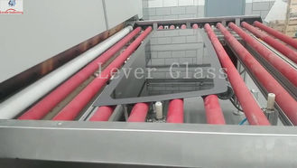 China Automotive Backlites Glass Tempering Furnace / double curvature glass with gravity & pressing moulds supplier