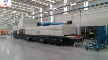 China Continuous Cylindrical bedning Glass Tempering Furnace for Toyota window glass factory