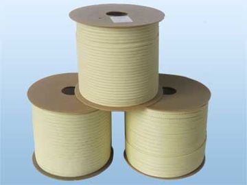 China 6x6mm Aramid Fiber Rope for Tamglass Tempering Furnace kevlar fire rope supplier
