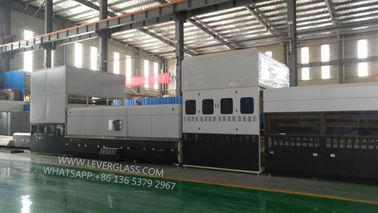 Dual direction Glass Toughening Furnace , Single & Double Curvature Bending Glass Tempering machine