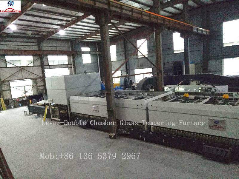 Two Heating Chambers Glass Tempering Furnace with high production and quality tempered glass supplier