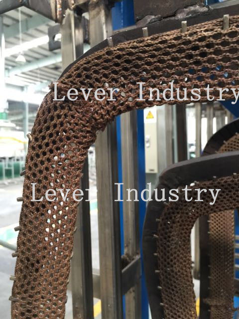 Stainless steel fiber net belt for automotive glass Tempering Furnace supplier