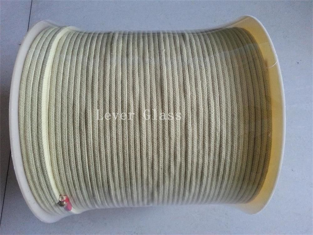 5.5 X5.5mm Kevlar Aramid Fiber Rope For Glass Tempering Furnace Rollers High Tensile Strength supplier