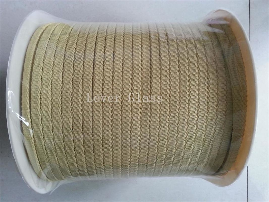10*3mm North Glass Furnace Kevlar Aramid Fiber Rope For Glass Tempering Furnace supplier