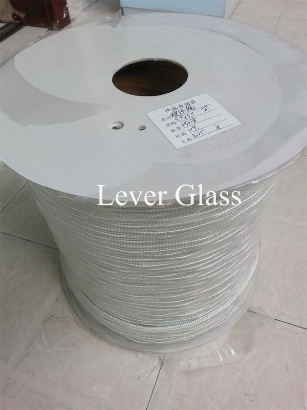 Glass Fiber Ropes for Glass Tempering Furnace roller 5.5 x 5.5mm spectra rope supplier
