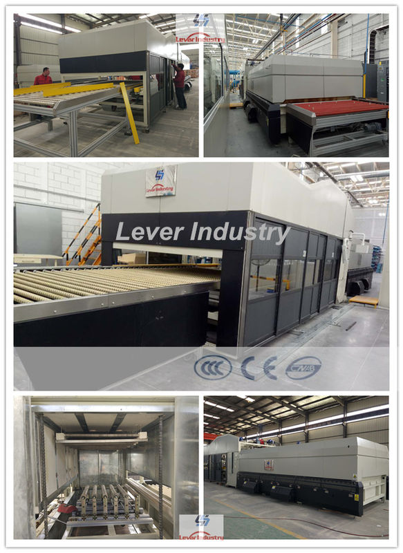 Double Curvature Glass Tempering Furnace / Glass Tempering machine for Automotive rear glass supplier