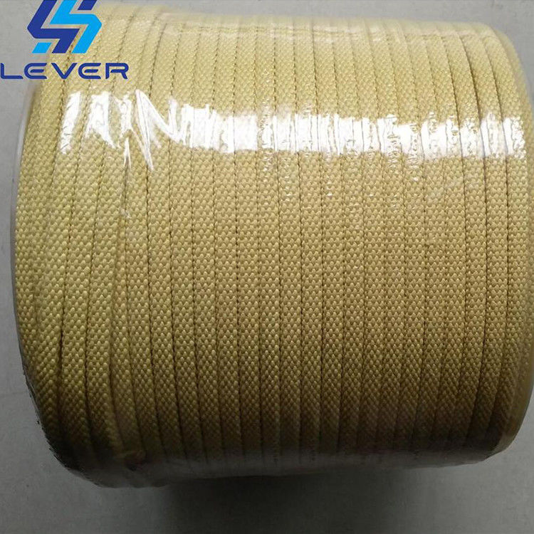 Kevlar Aramid Rope used on Tamglass Glass Tempering Furnace roller 5.5 x 5.5mm supplier