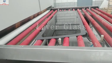 Automotive Backlites Glass Tempering Furnace / double curvature glass with gravity & pressing moulds